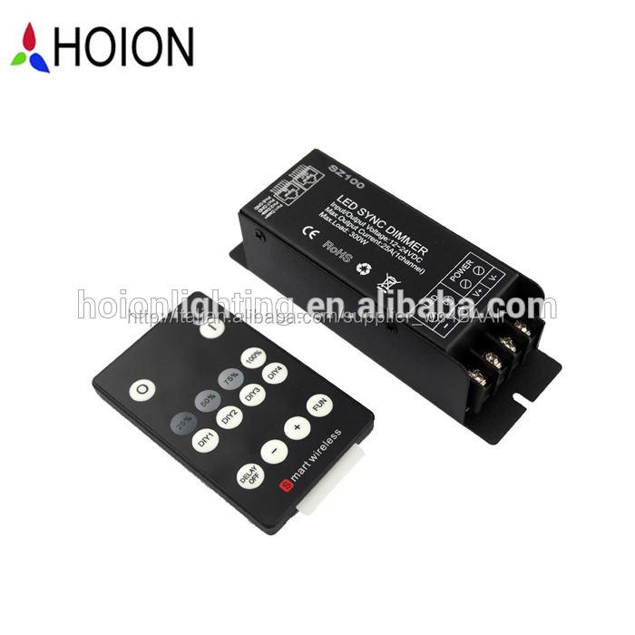 1 ch*25a 300w led dimmer controller con rf 14 chiave telecomando senza fili per singolo colore luci