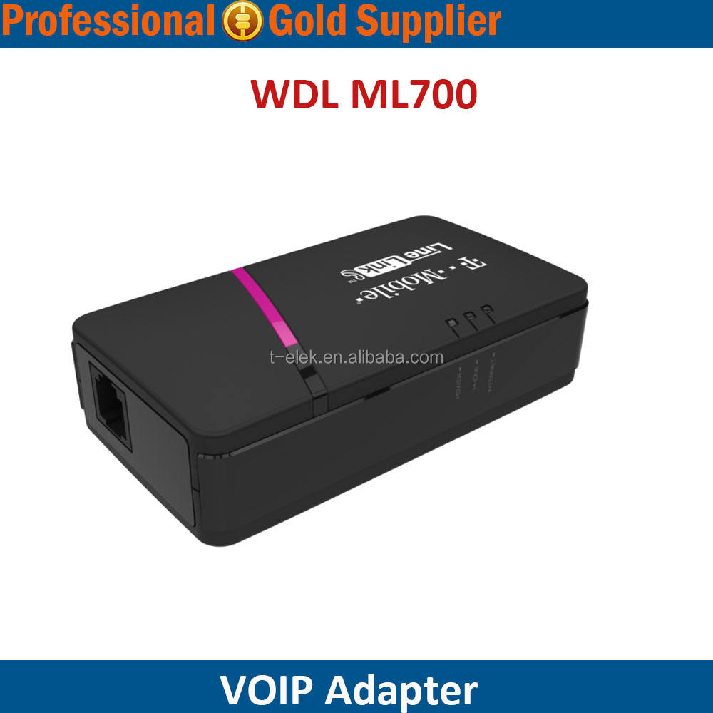 Hot sale Rumah Telepon Adapter dengan port LAN T-MOBILE WDL ML700 LINELINK ATA <span class=keywords><strong>VOIP</strong></span>