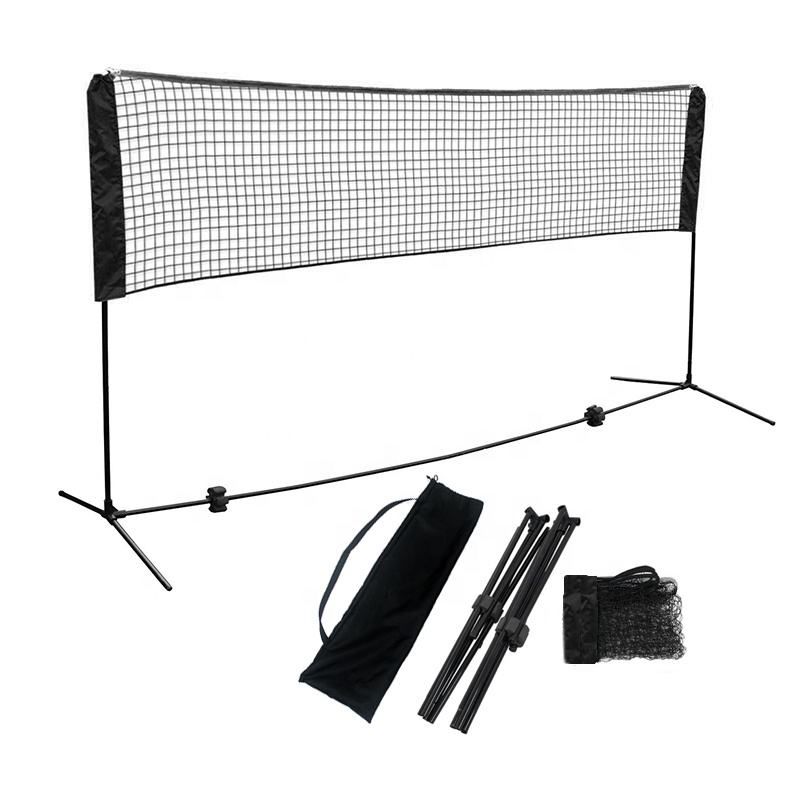 Factory direct sales 3M folding adjustable height portable badminton net stand