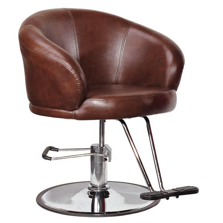 barber chair round base /salon furniture 360 swivel /chromed silvery styling chairs for adult L13
