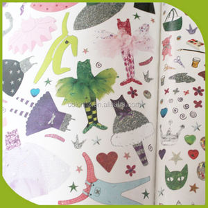Perfect bound sticker books printing for girls with softcover