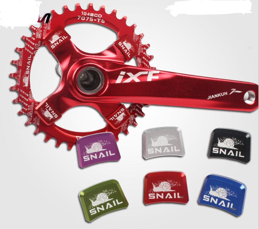 US SNAIL 24*17mm MTB Bike Crankset Chainring Square Bolts Chainring Screws 4 PCS