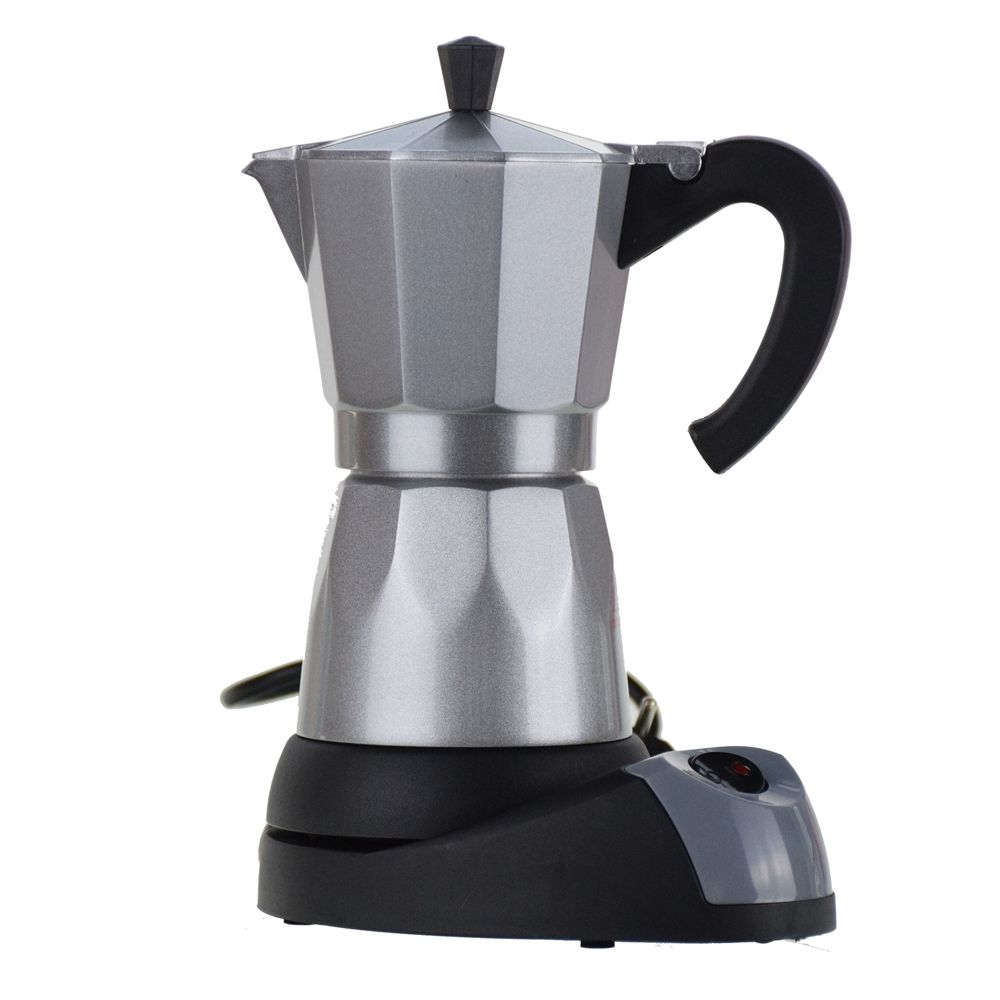 Electric heating mocha pot fully-automatic aluminum coffee machine lounged electric coffee pot coffee 220V Europlug