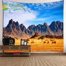 Quality-Assured Microfiber Fabric Digital Printed Misty Forest Mountain Wall Hanging Tapestry 80*60 inch
