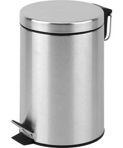 Stainless steel foot pedal garbage bin