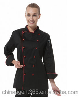 Duurzaam hot koop chef <span class=keywords><strong>uniform</strong></span>/vrouwen lange jas/T65/C35kitchener/jas