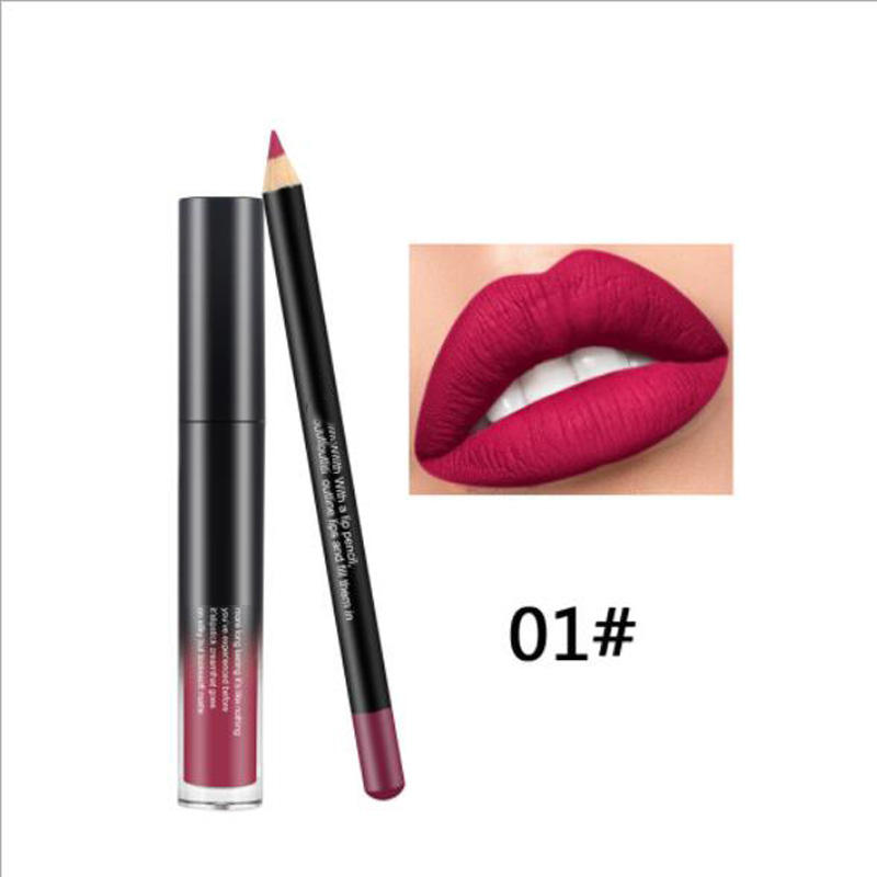 Private label waterproof fashion lipstick lip liner set