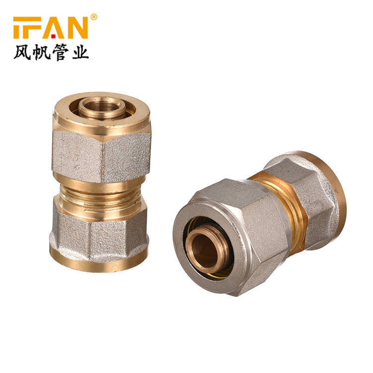 "16 x 1/2F Female Socket 16mm Pex Pipe Fitting 1/2"" Brass Fittings Compression Move insert Brass Adaptor Coupling for pex pipe"
