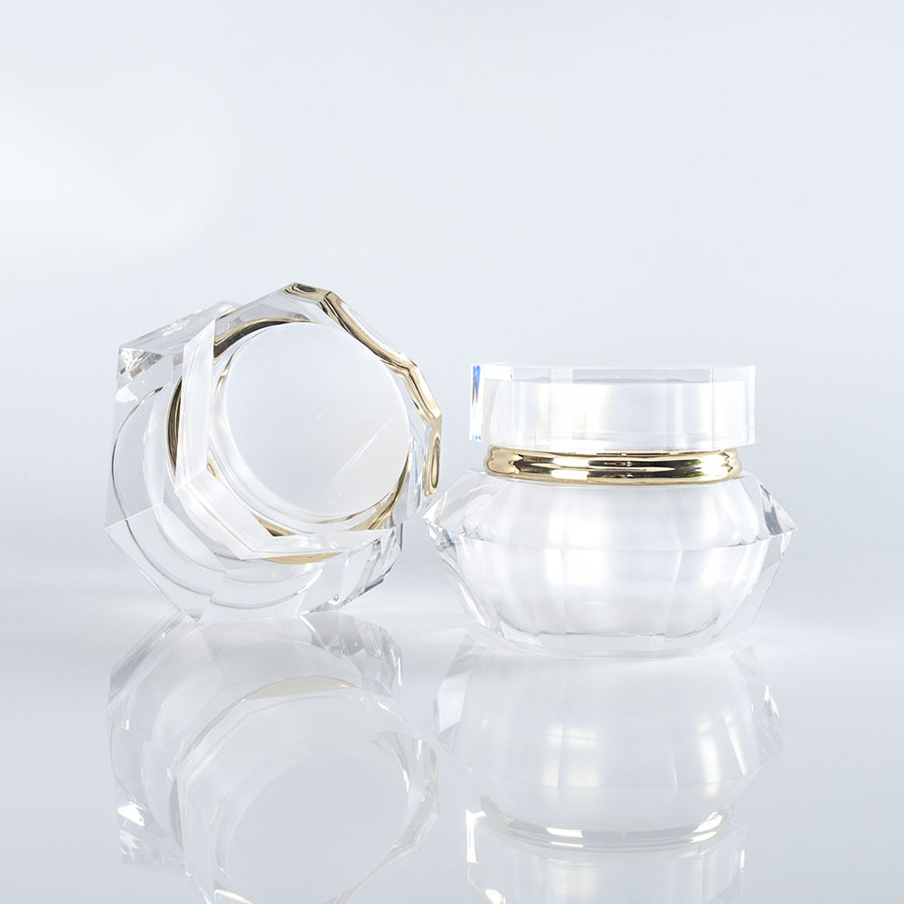 Luxury Diamond Shaped Acrylic 50g Cosmetic Cream Jar Skin Care Cream Jar