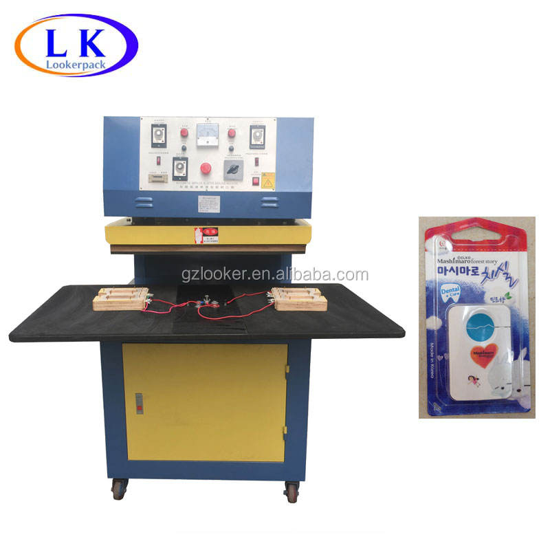 Blister pack sealing machine for scouer lipstic razor blister package