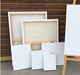 China stretched canvas wooden frame canvas cotton linen blended stretched canvas 380g 100*100cm