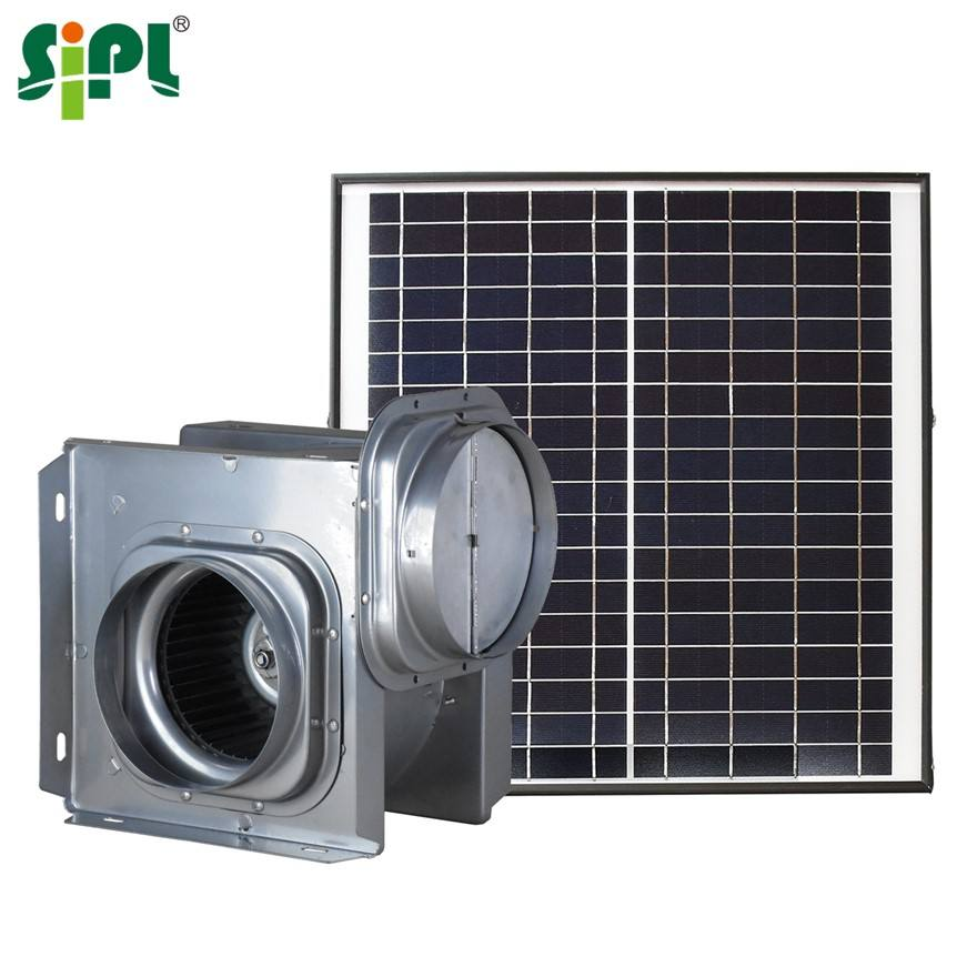 Eco Solar Vent Tool Sunny Multi-Purpose Double Inlet Outlet Ceiling Roof Wall Mount Centrifugal 4'' Air Conditioning Exhaust Fan