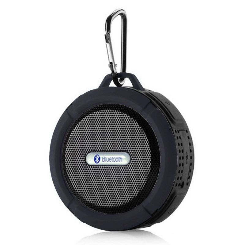 2020 promotional outdoor IPX4 waterproof sucker wireless C6 bluetooth speaker with TF card customized logo