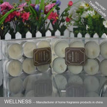 wholesale soy 16 pack tealight candles in PVC box
