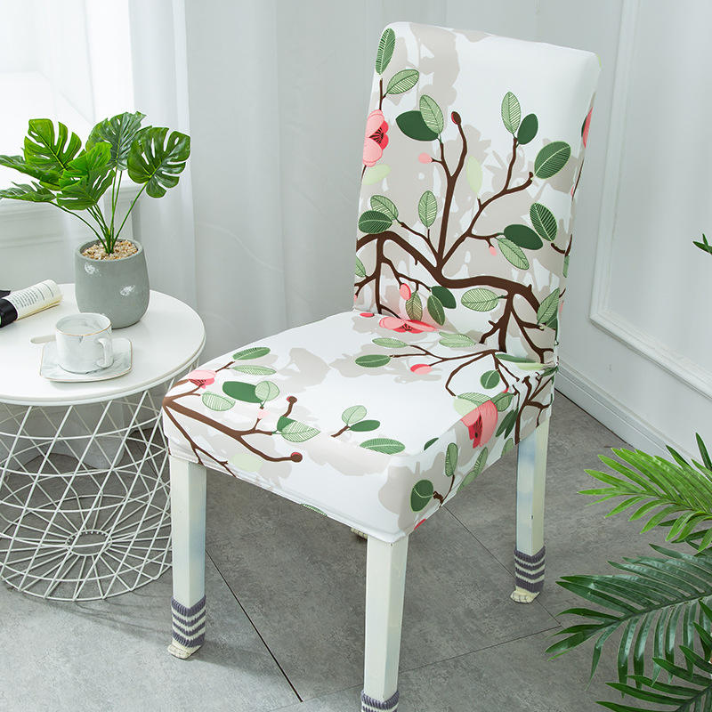 Wholesale Good Quality Hot Selling Home Decoration Spandex Dining Printed Half Chair Cover