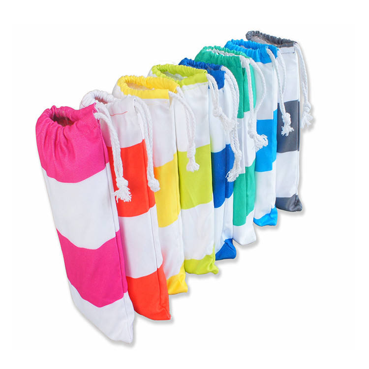 2020 Aamzon hot selling towel for beach, stripe beach towel soft textile made of 80% Polyester 20% Poly amid microfiber