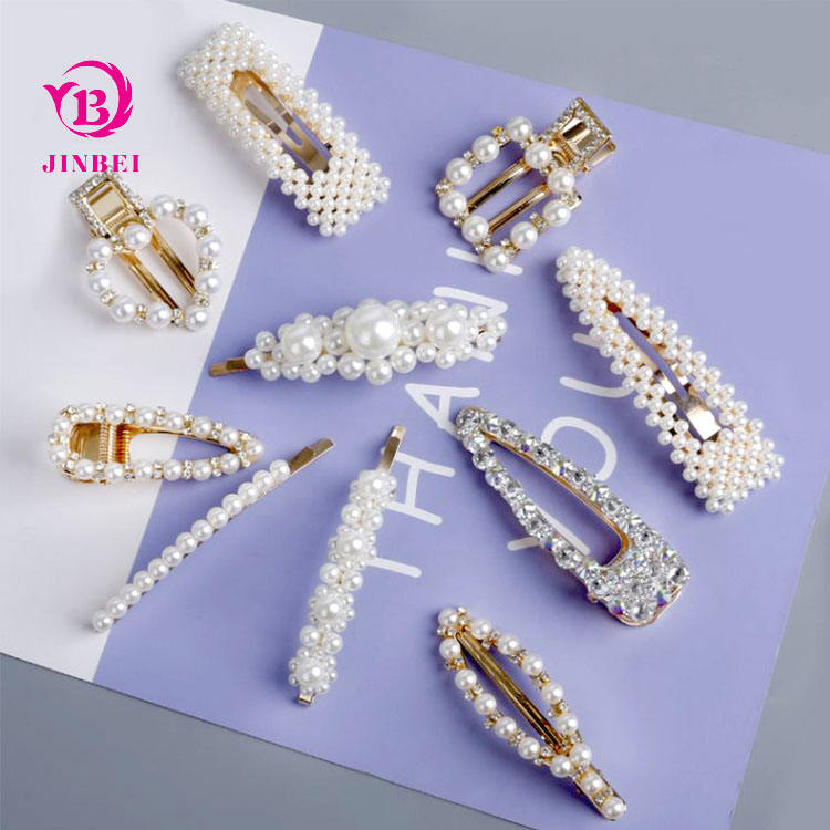 High Grade Fashion Elegant Triangle Abs Imitation Pearl Hairgrip Women Hair Clips,Women Ladies Kids Hairgrips