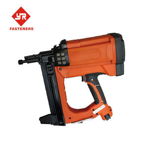 Gas actuated cordless nailer for concrete or steel