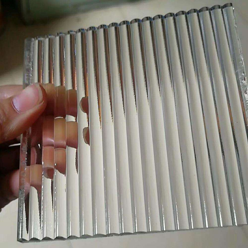 5mm 10mm fluted glass panel ribbed glass panel for sale ribbed glass wall panel