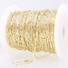 2mm Hot sale china jewelry accessories for jewelry making Light Gold plated  jewelry Brass  Figaro Chain