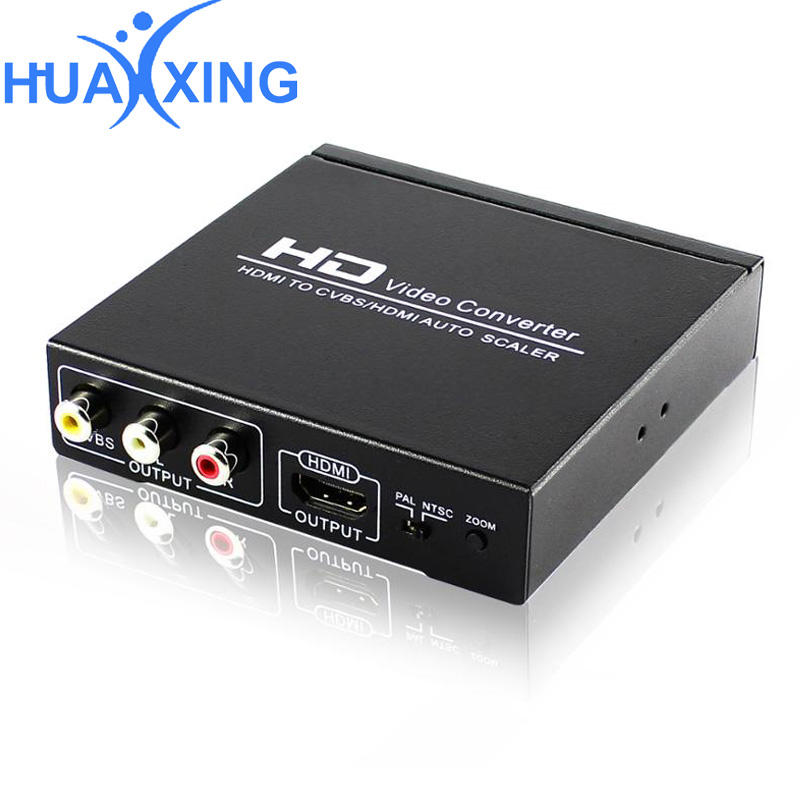 Mini HDMI zu AV Composite Cinch CVBS Video Audio Signal Konverter Für TV VHS VCR DVD Weiß