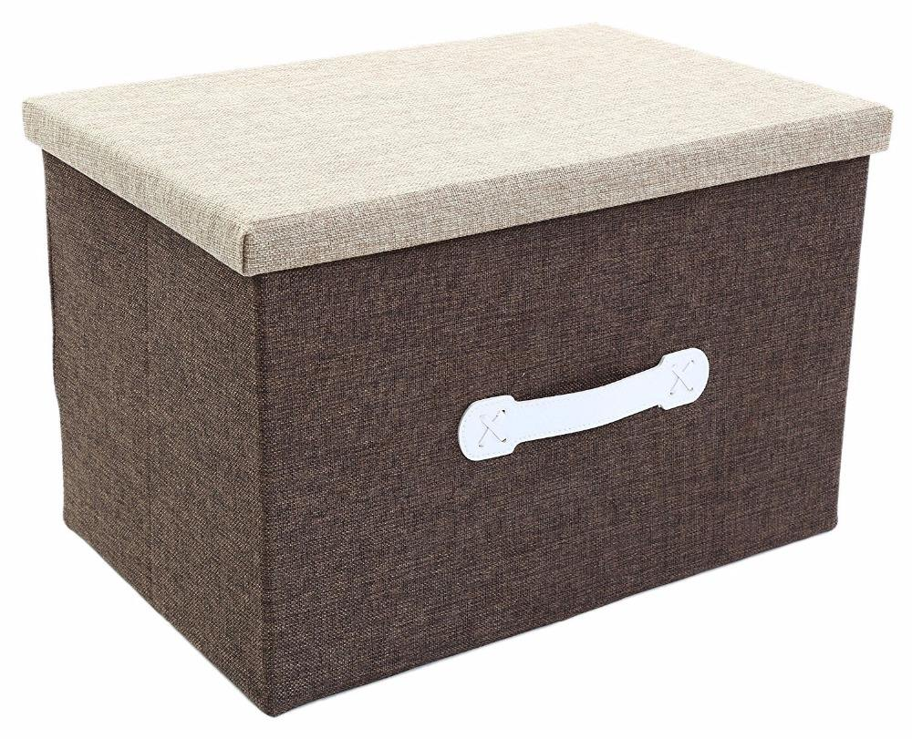 Jumbo Storage Box - Natural Jute Storage Container - Beige Closet Box