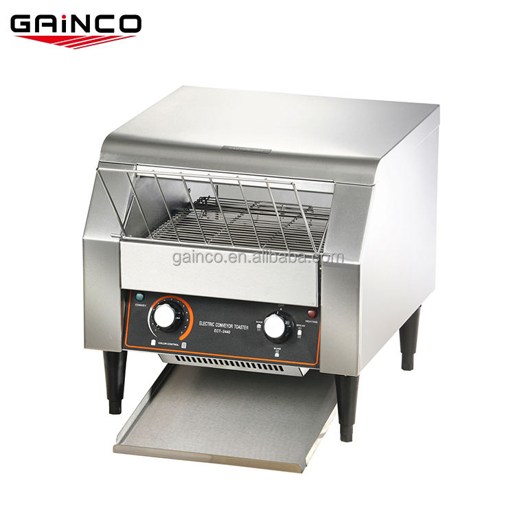 Electric industrial horizontal toaster with timer
