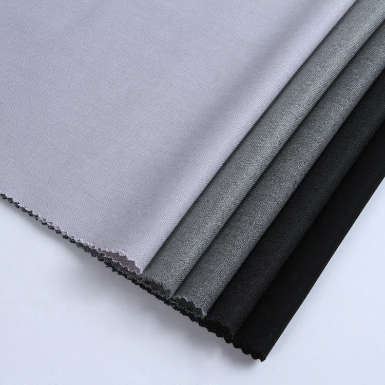 New design great quality custom grey woven twill 4 way stretch rayon polyester spandex fabric
