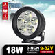 camper trailer 4x4 accessories Car LED offroad light 3inch round 18W led work light for j eep suv atv