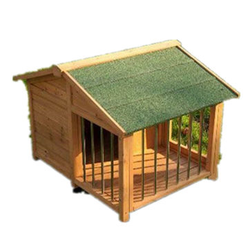 MSH-D0C4 Secure Weatherproof Garden Pet House Cage Large Outdoor Wooden Dog Kennel