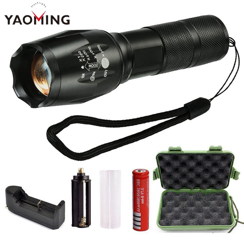 Best Price Zoom 5 Modes T6 G700 1200 Lumen Tactical Flashlight 18650 Aluminum Flashlight XML T6 10W led flashlight