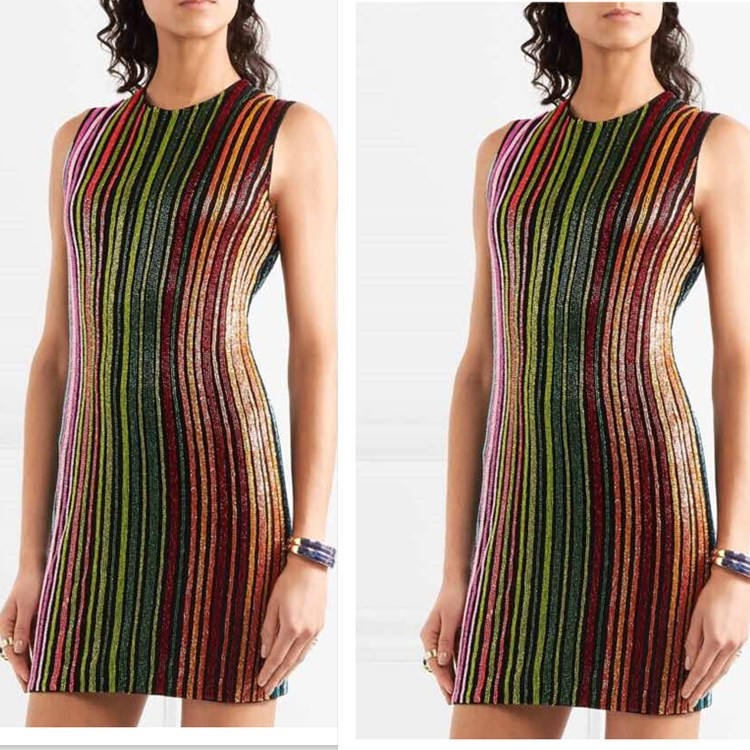 2018 New Luxury Club Sundress Sleeveless Mini Bodycon Women Sequined Party Dresses