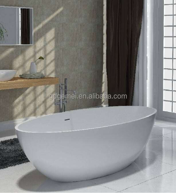 2 person hot tub/solid surface freestanding oval bathtub