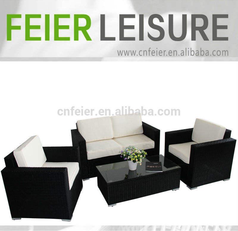 ratán muebles de jardín proveedores 4 unidades kd sofá de