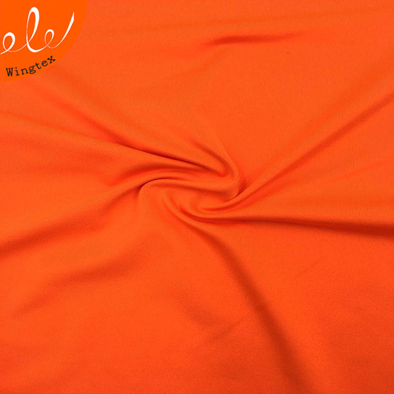 Wholesale 140gsm 92 polyester 8 spandex elastane milk silk fabric for sportswear