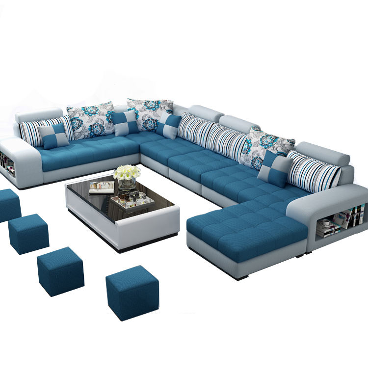 Design Extra Large Big Size C Shaped 5 7 8 9 10 11 12 Seater Sectional Sofa Set