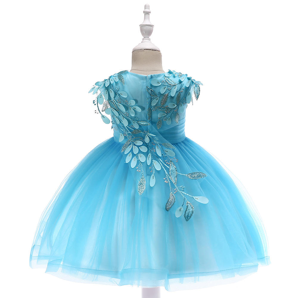 New Design girls bridesmaid dresses cute baby party birthday clothes princess halloween costume