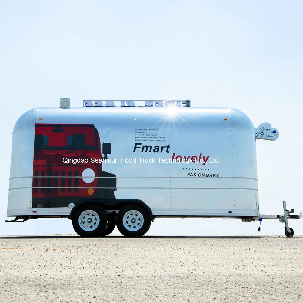 Commercial <span class=keywords><strong>polyvalent</strong></span> En Acier Inoxydable de cuisine de camion de nourriture mobile remorque de camion de nourriture à vendre