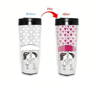 450ml double wall tumbler color changing plastic coffee travel mugs wholesale