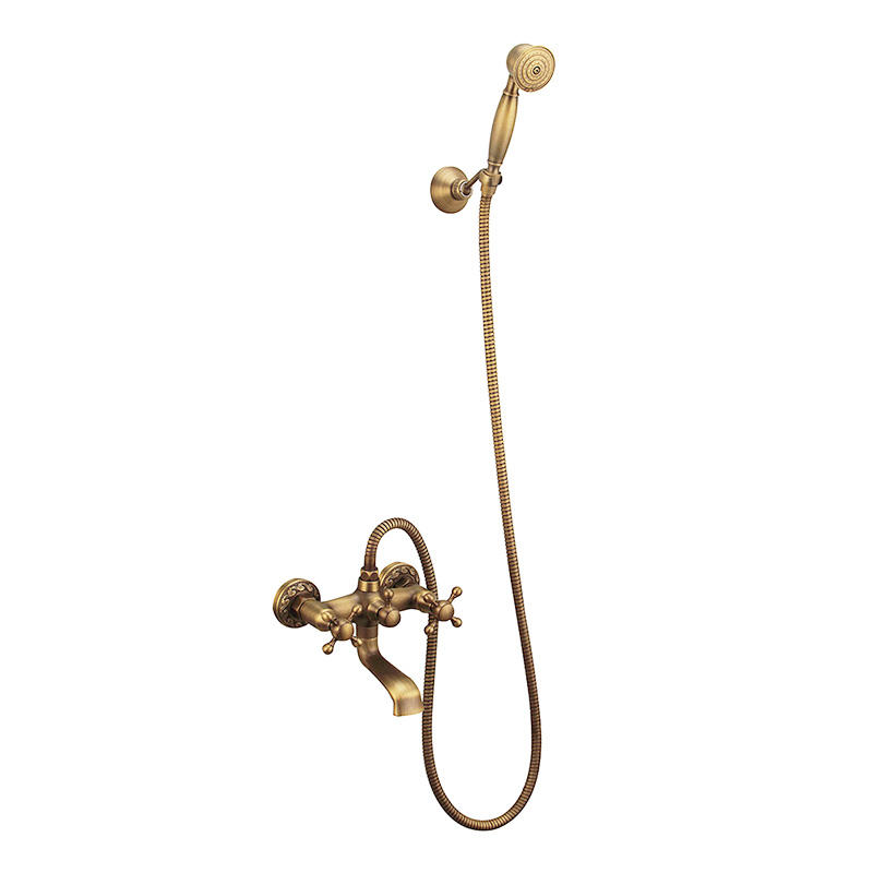High Quality Antique Brass Bathroom Hand Shower Head Set