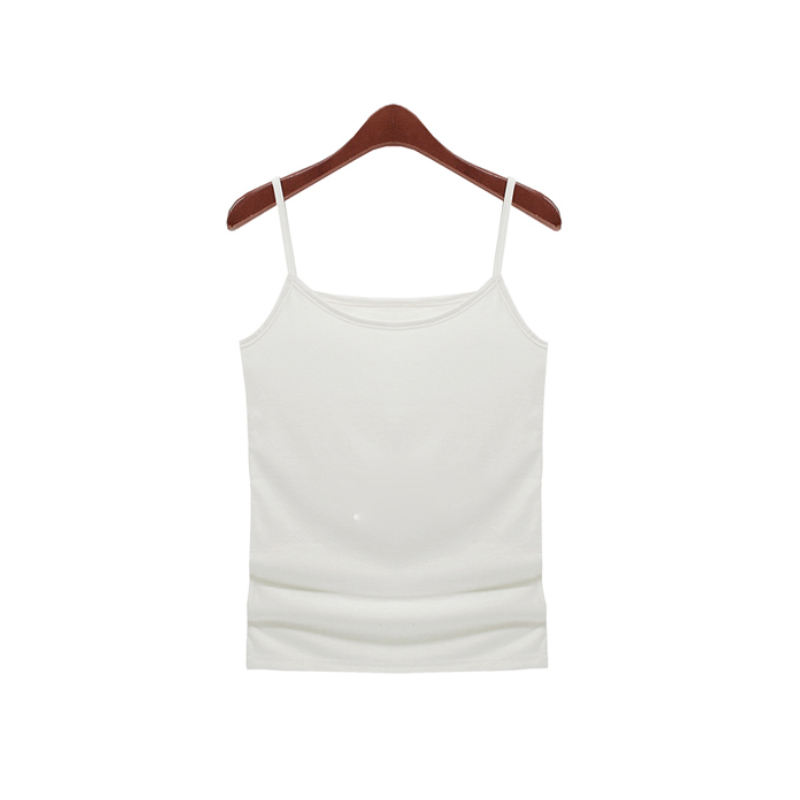 New arrival spaghetti strap womens tank top with round neckline