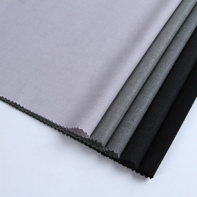 Shaoxing textile new style rayon spandex polyester suit uniform fabric with flat surface