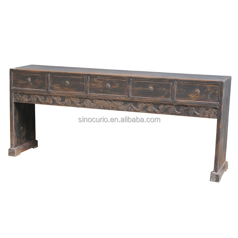 Antico stile cinese lungo <span class=keywords><strong>cassetti</strong></span> recycle legno <span class=keywords><strong>consolle</strong></span> sala della parete d'ingresso