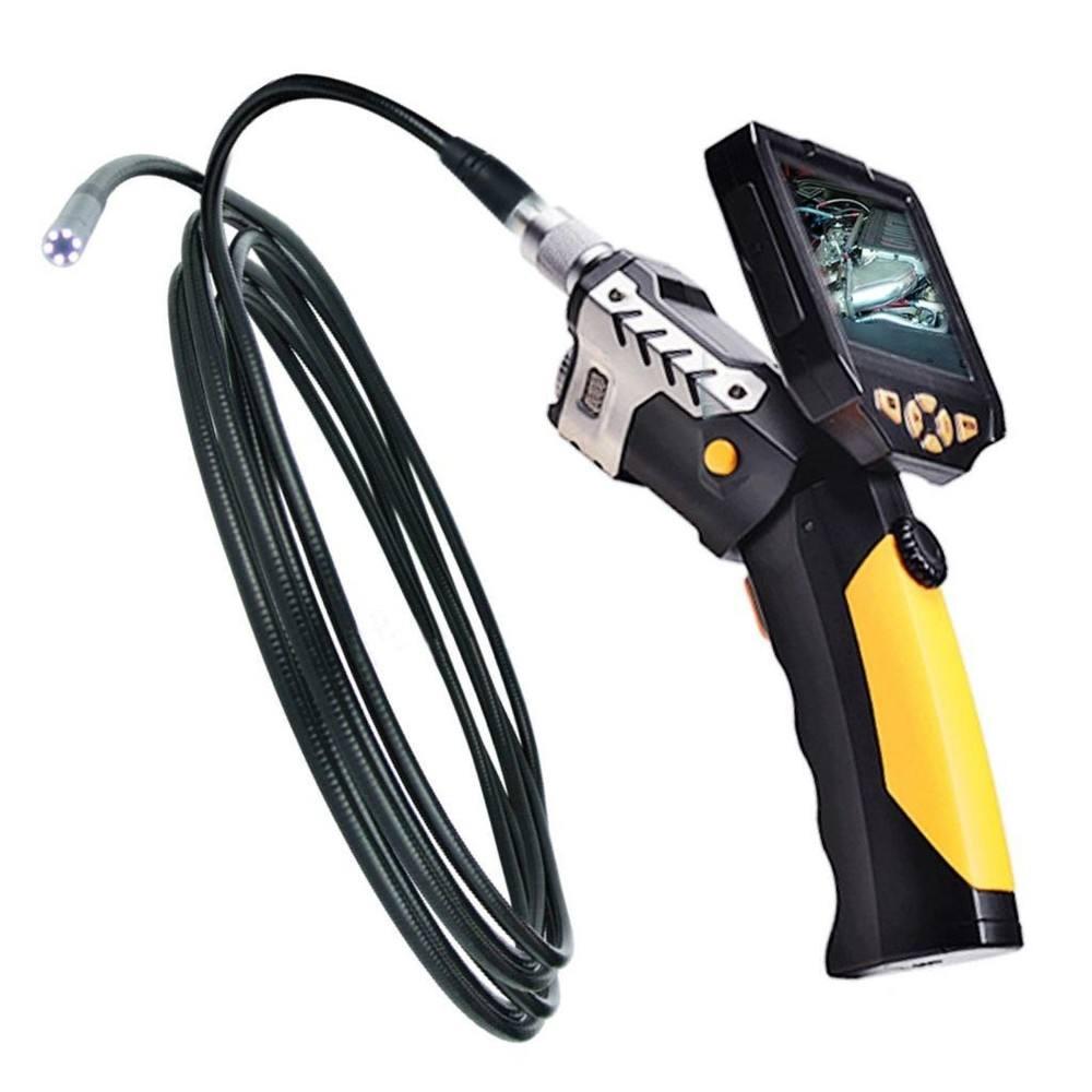 """3.5"""" lcd للانفصال التفتيش كاميرا فيديو منظار borescope نطاق الأفعى 8.2mm القطر + 5m أنبوب مرن + 2gb بطاقة مايكرو"""