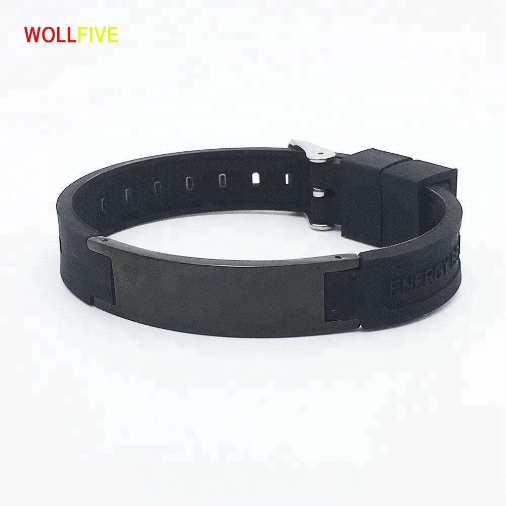 4 in 1 Bio Silicone Magnetic Bracelet with 3000 Gauss Magnet Band