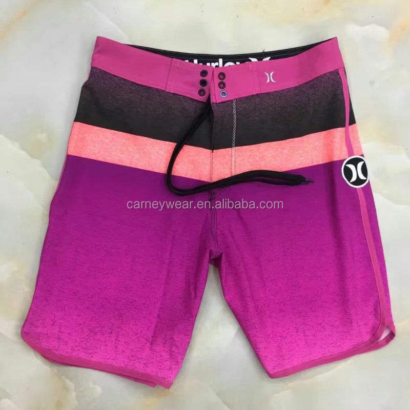 Custom surf 4 way stretch printed hurley wholesale mens boardshorts