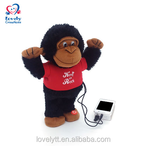 Usb Gorilla Singing Dancing Music Speaker electric Plush Stuffed Animal Speakers Baby Electronic Toy For Kids Children