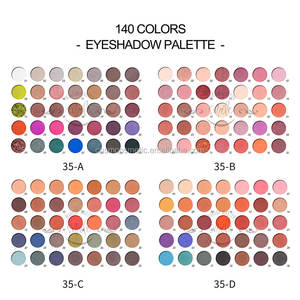 A92 New custom eyeshadow palette OEM glitter Eyeshadow pigment