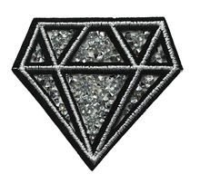 2020 New  Style   Custom Diamond Applique Embroidery Patch  With Stone Designs