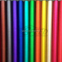 Bubble free 5ft*65ft 15 colors matte metallic chrome vinyl car wrap